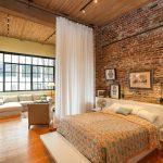 зонирование комнаты шторами дизайн