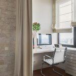 зонирование комнаты шторами дизайн интерьера