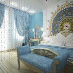 зонирование комнаты шторами фото