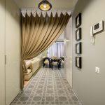 зонирование комнаты шторами фото дизайн