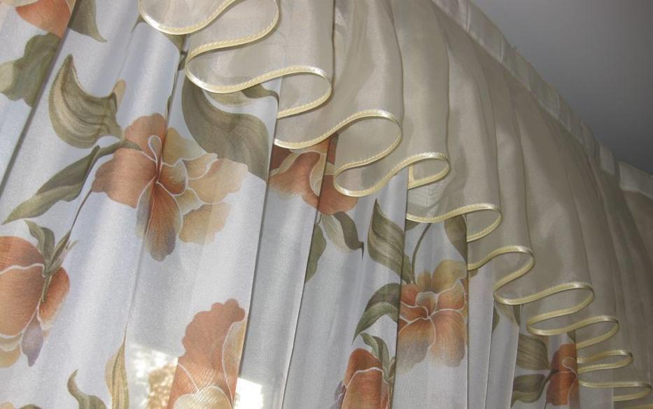как подшить шторы и тюль