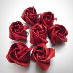 розы из салфеток фото