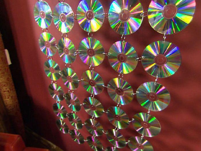 шторы своими руками из дисков