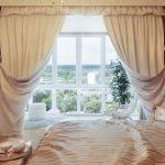 шторы в спальню с балконом фото дизайн