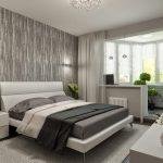 шторы в спальню с балконом оформление фото