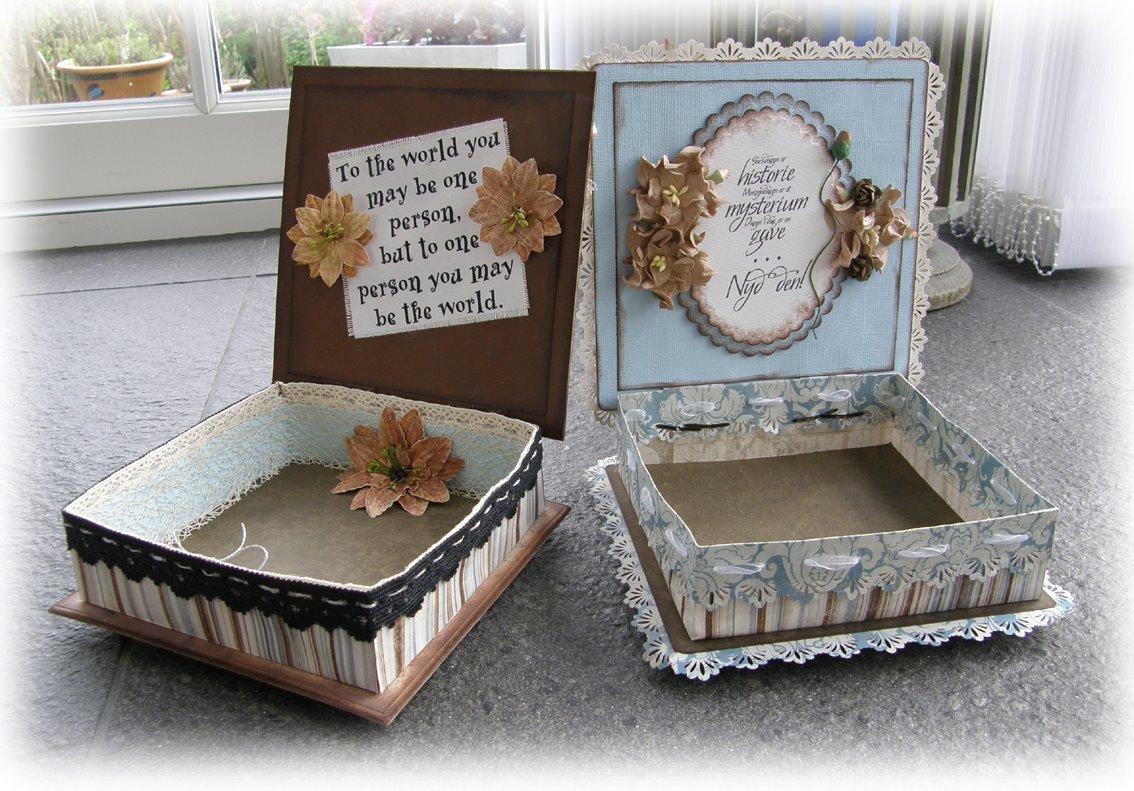 декор коробки идеи