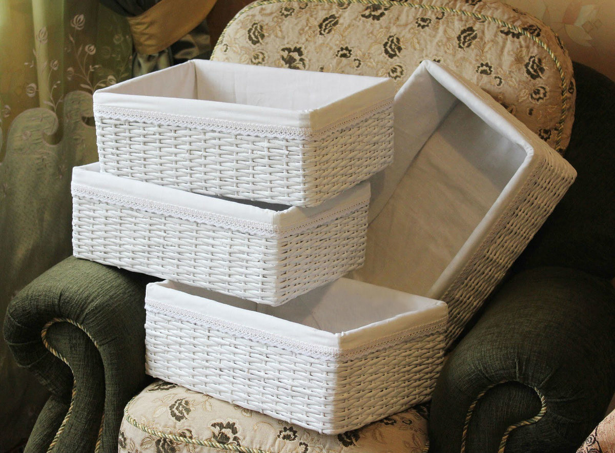 декор коробки из газет