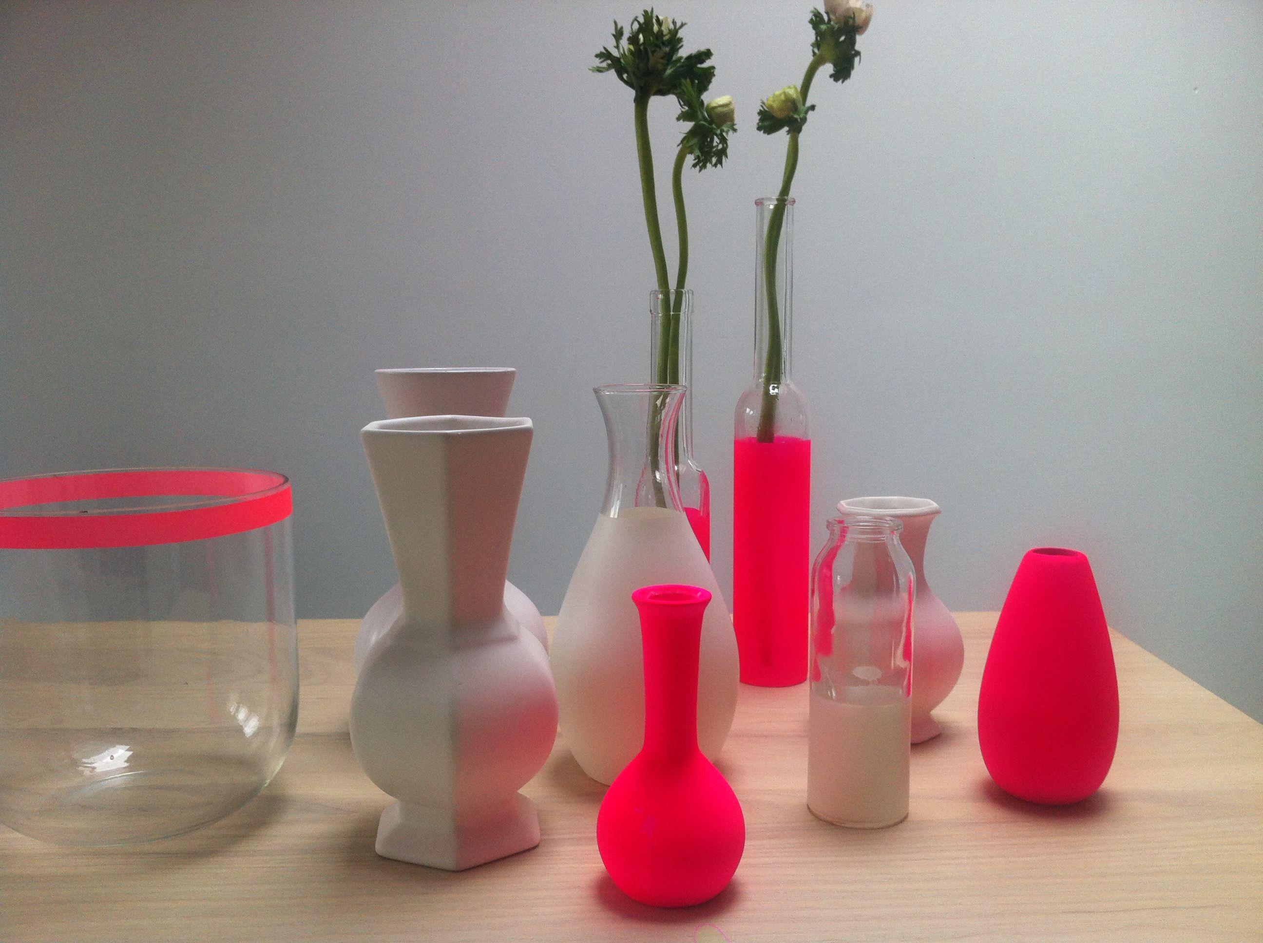 декор вазы окрашивание фото