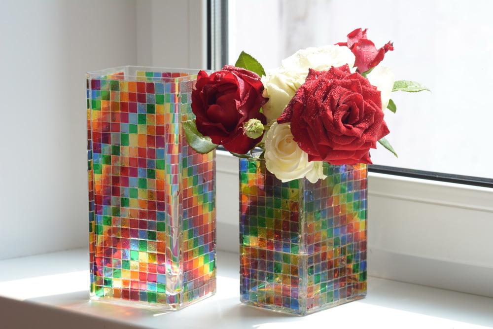 декор вазы витраж фото