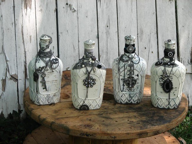 декупаж бутылок своими руками идеи