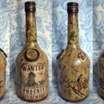 декупаж винных бутылок фото декора