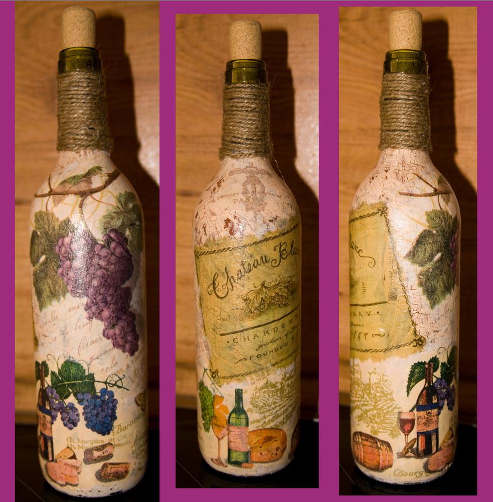 декупаж бутылок фото вариантов