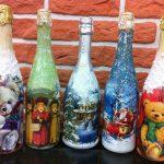 декупаж винных бутылок фото варианты