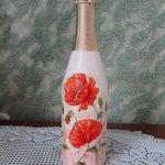 декупаж винных бутылок своими руками фото дизайна