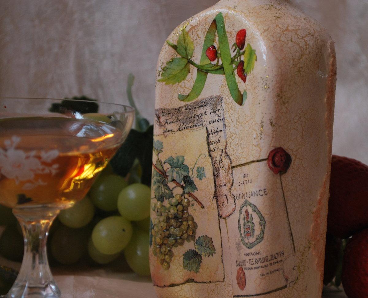 декупаж бутылок идеи декора