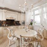 тюль на кухню в классическом стиле