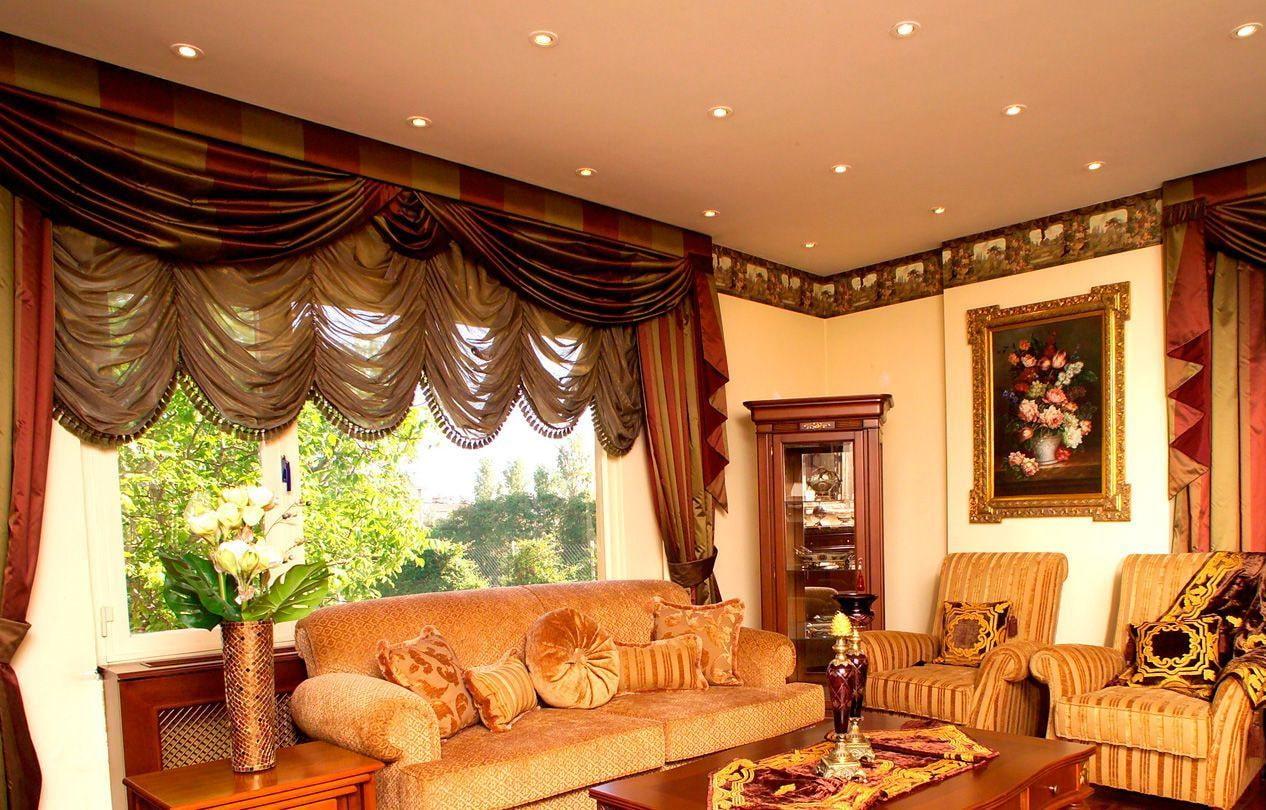 французские шторы фото варианты