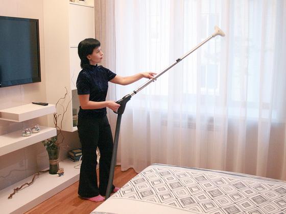 как отпарить шторы