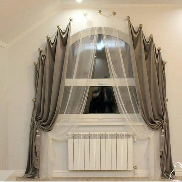 как повесить шторы без карниза интерьер