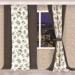 комбинированные шторы декор