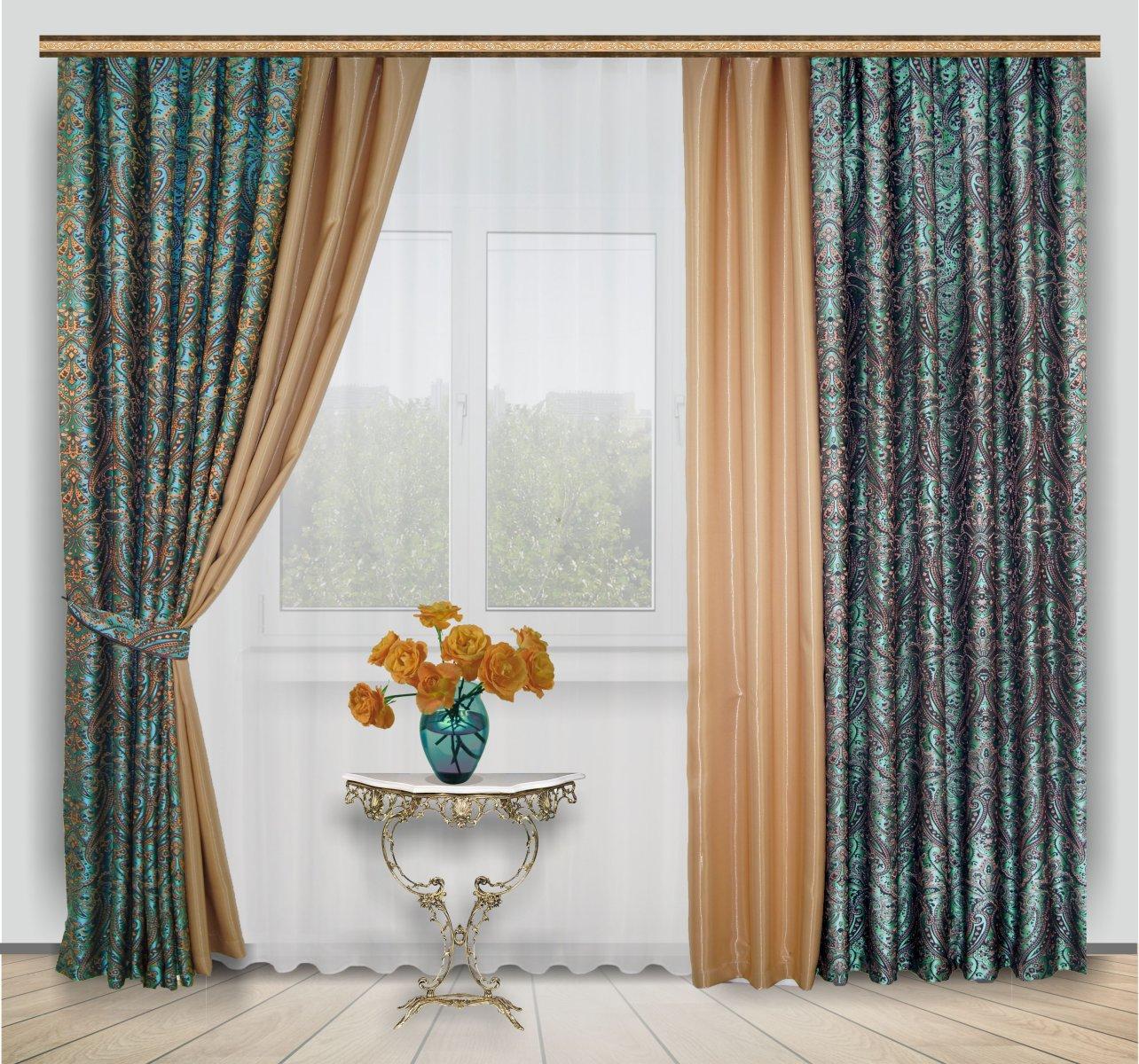 комбинированные шторы декор идеи