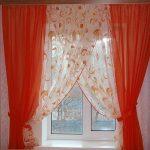 комбинированные шторы двухцветные