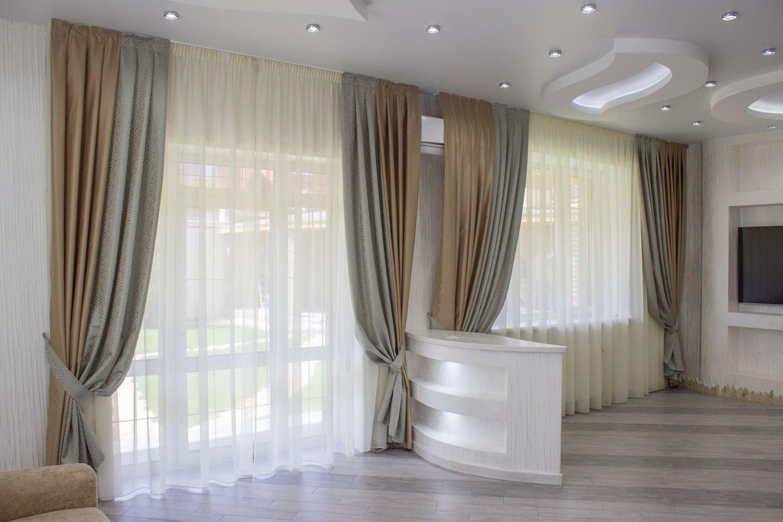 комбинированные шторы фото декор