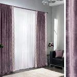 комбинированные шторы идеи декор