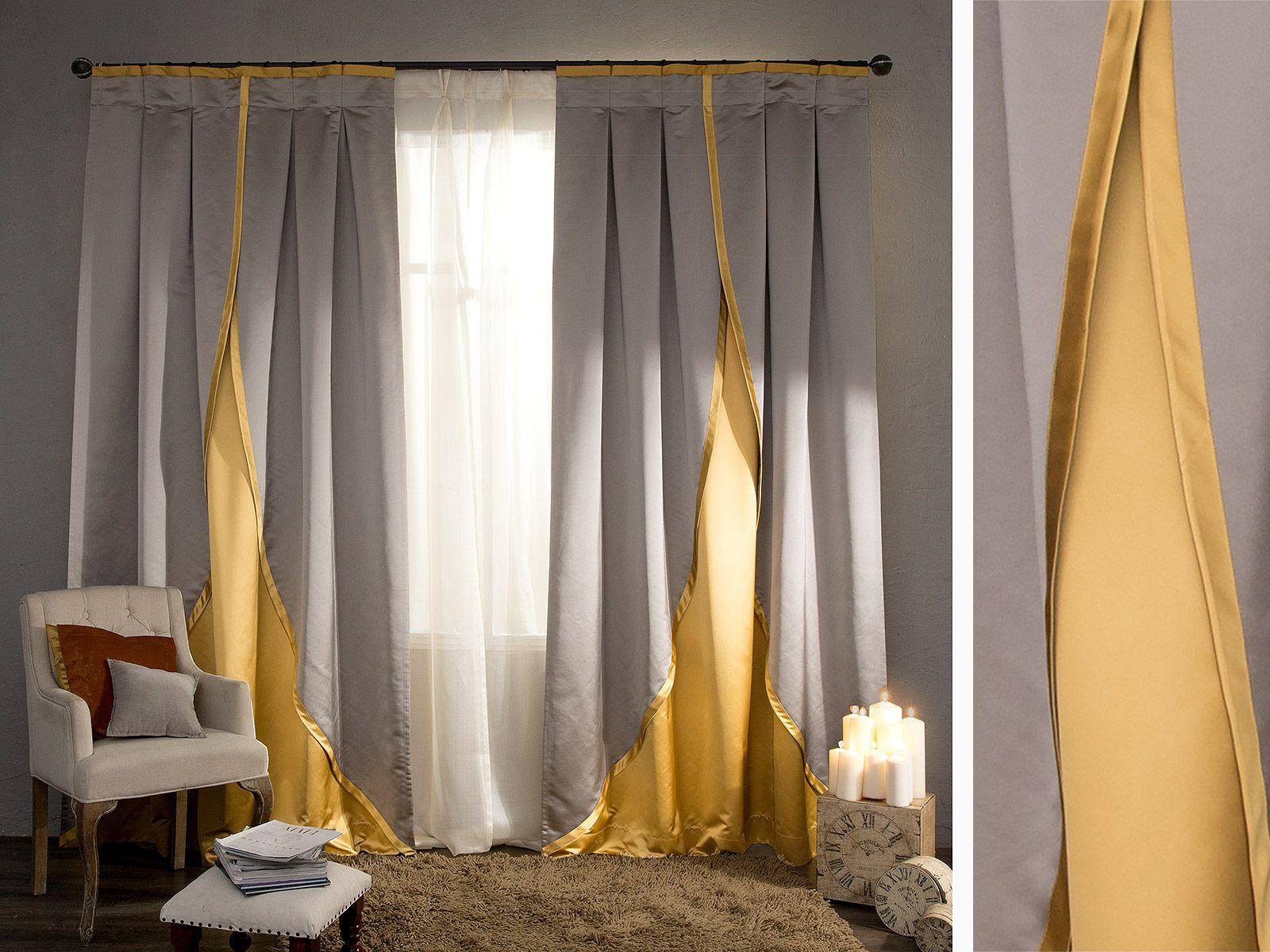 комбинированные шторы идеи декора