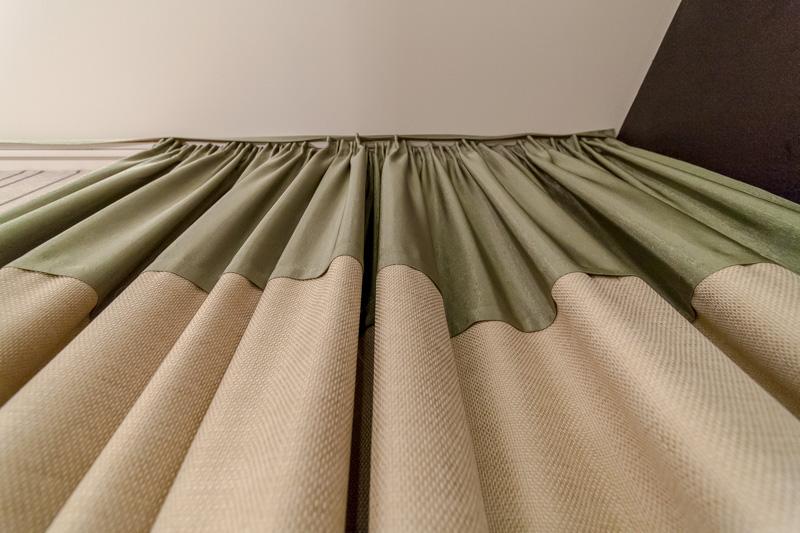 комбинированные шторы интерьер фото