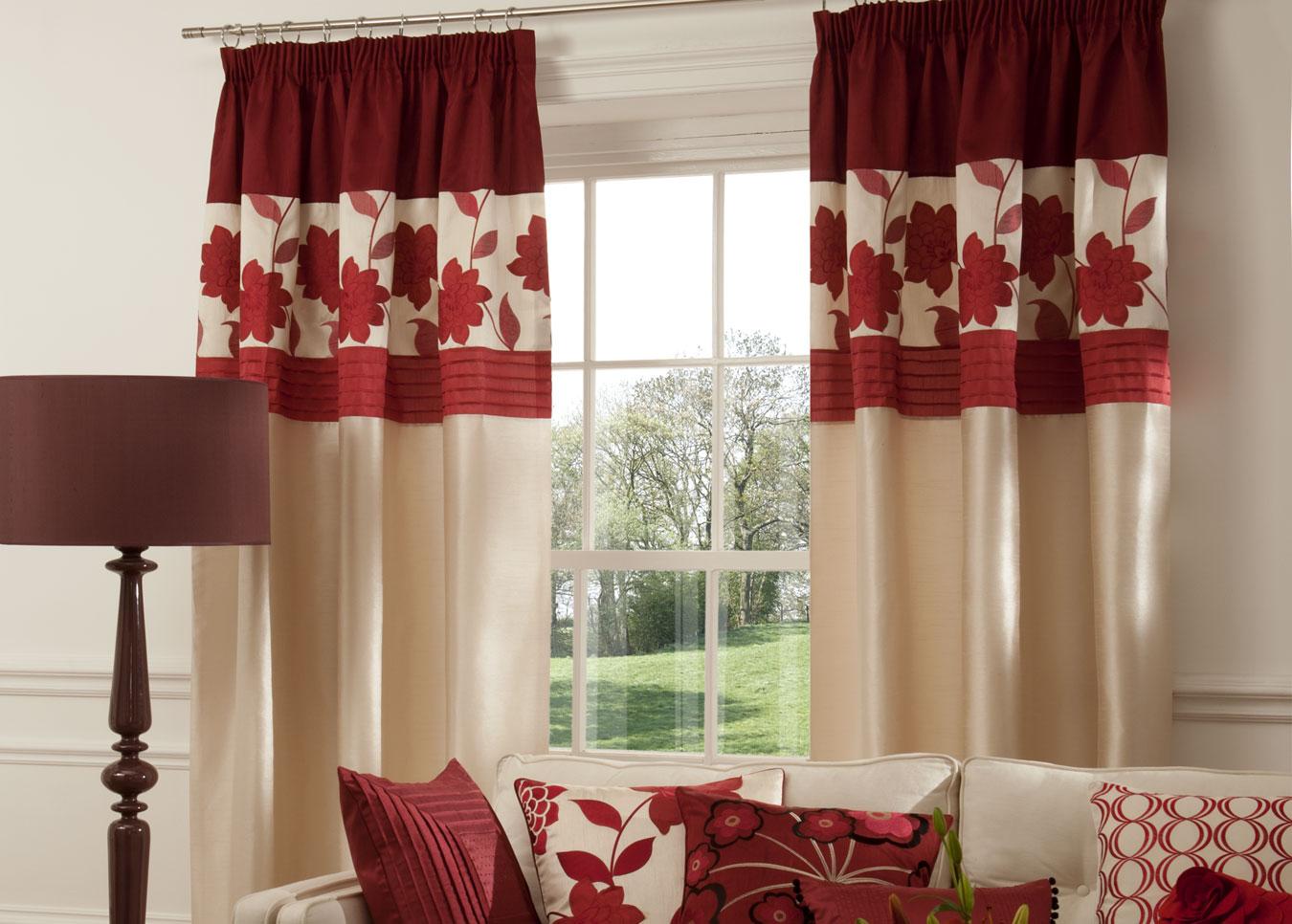 комбинированные шторы дизайн фото