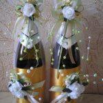 оформление бутылок шампанского на свадьбу фото дизайн