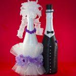 оформление бутылок шампанского на свадьбу дизайн идеи