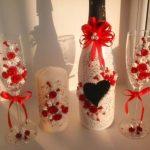 оформление бутылок шампанского на свадьбу фото вариантов