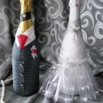 оформление бутылок шампанского на свадьбу варианты идеи