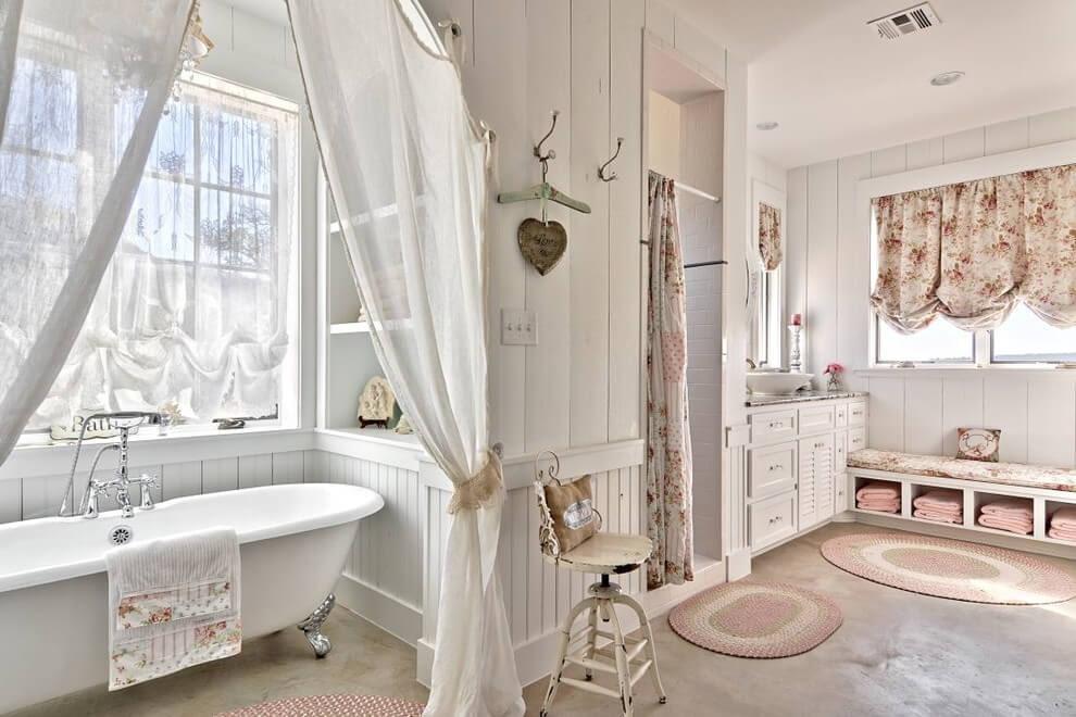 подхваты для штор в ванной