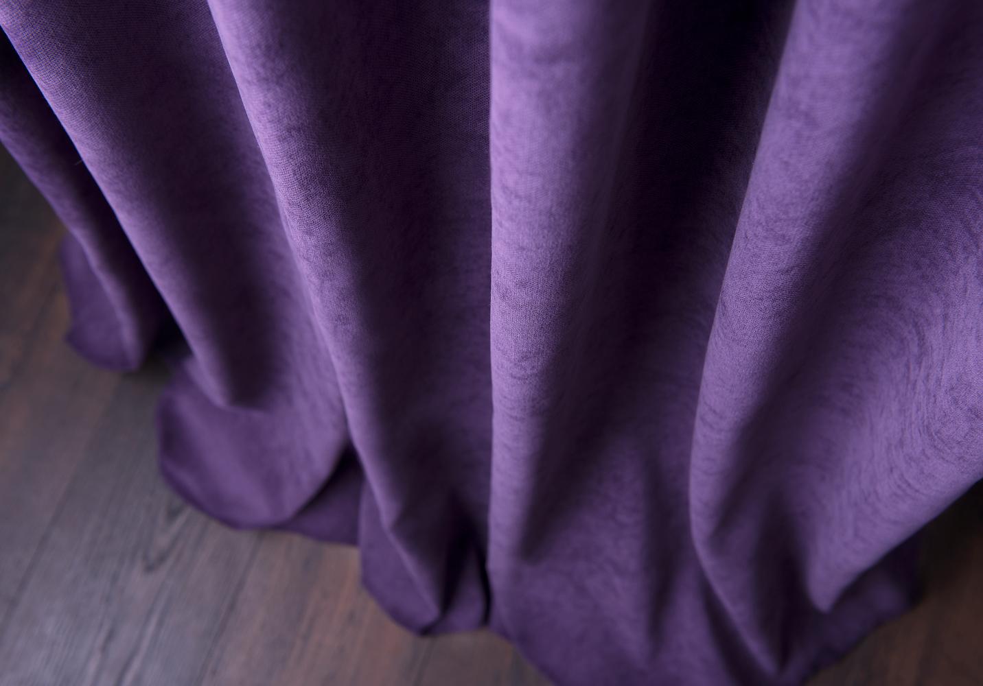 портьеры софт фиолетовые