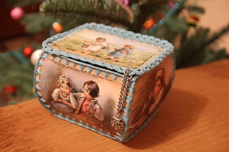 шкатулка своими руками из открыток