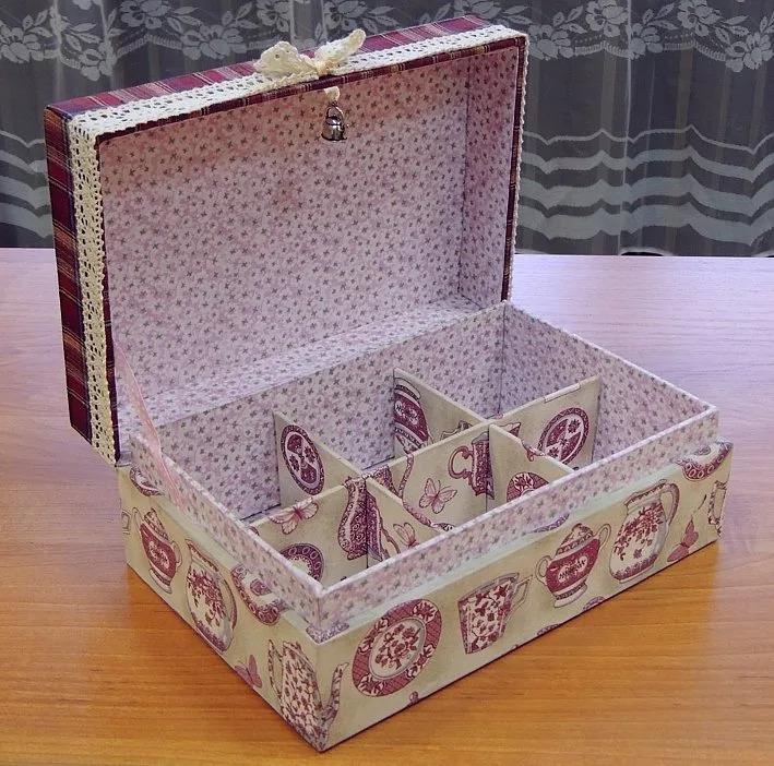 шкатулка своими руками картонная