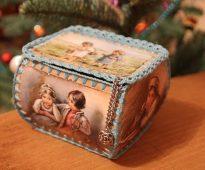 шкатулка из открыток фото декора