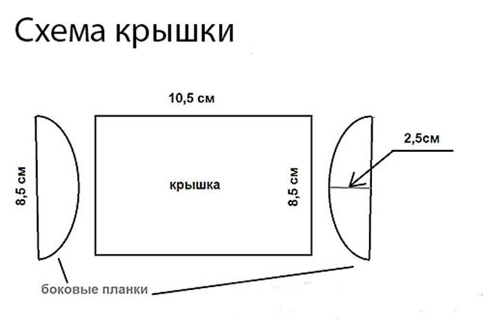 шкатулка из открыток схема фото