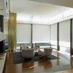 шторы на панорамные окна фото текстиля