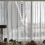 шторы на панорамные окна идеи оформления