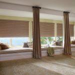 шторы на панорамные окна идеи примеров