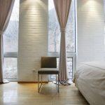 шторы на панорамные окна идеи примеры