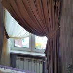 шторы и тюль без карниза дизайн идеи