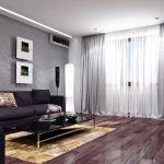 шторы из материала габардина дизайн интерьер