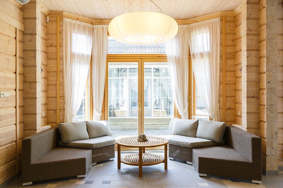 шторы на эркерное окно дизайн идеи