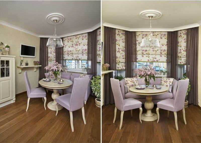 шторы на эркерное окно дизайн фото
