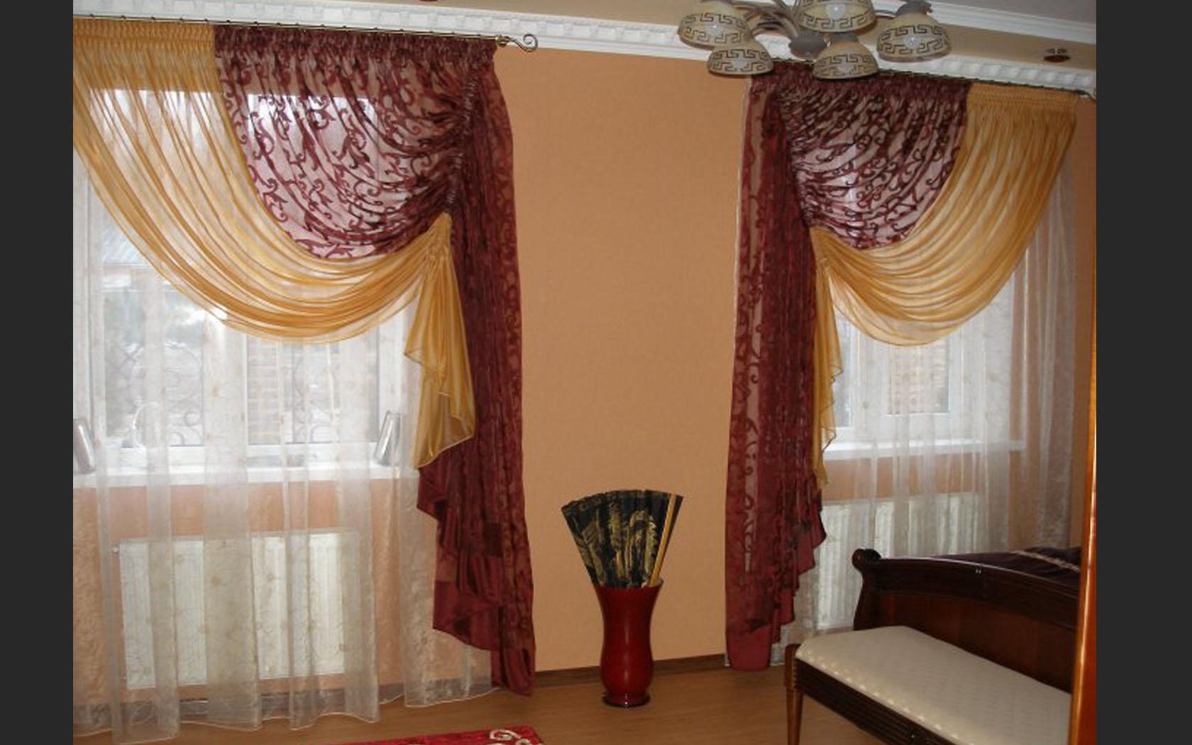 шторы на маленькие окна декор фото